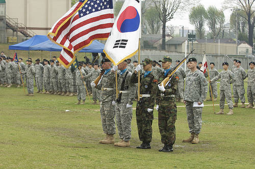 US soldiers in South Korea
