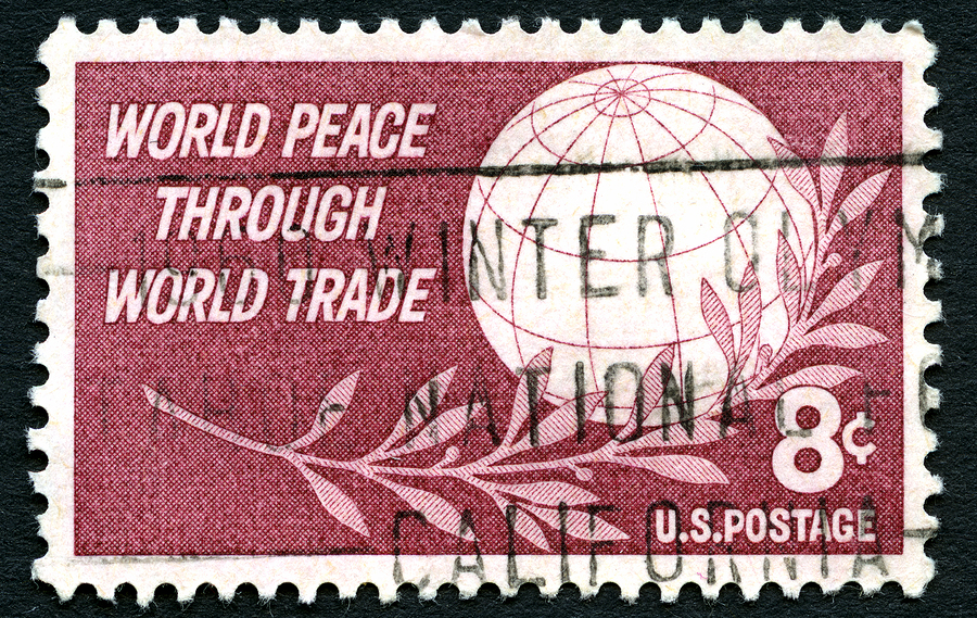 World Peace Through World Trade Stamp from 1959