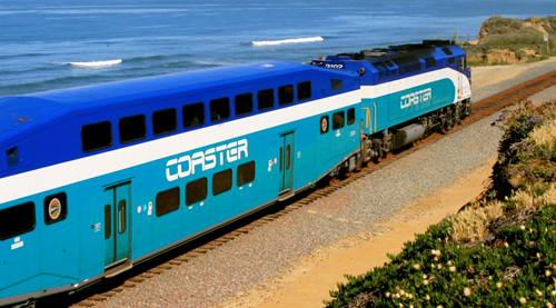 train along California coast